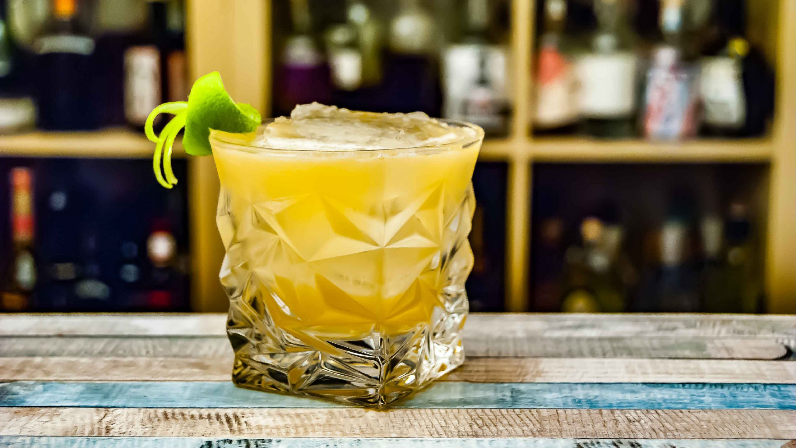 A photo of a cocktail