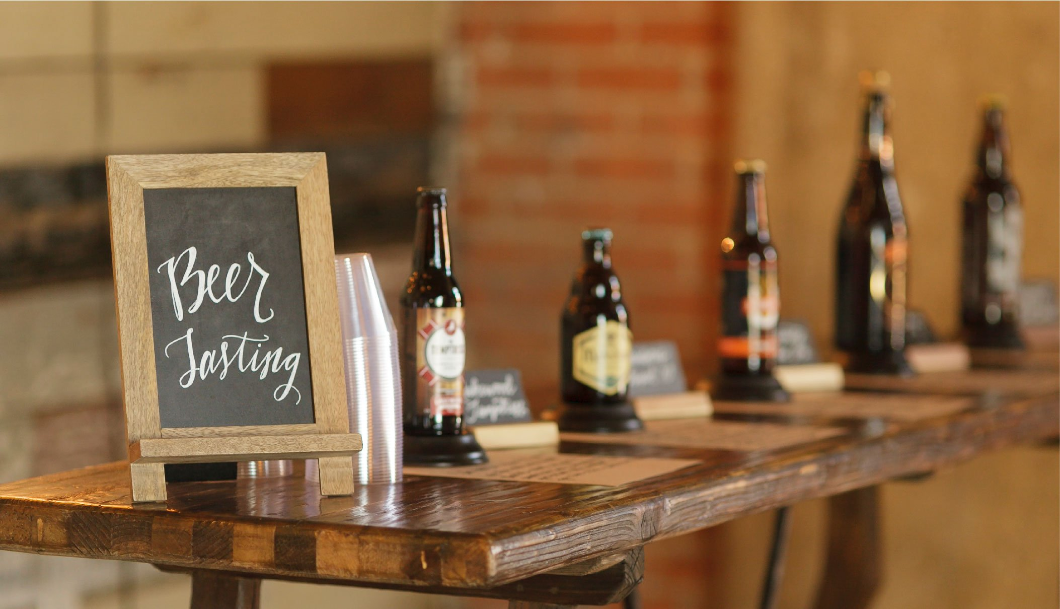 A photo of a beer tasting